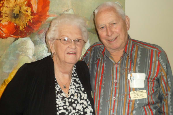 Myrtle and Bob Ruch at The Highlands Gracious Retirement Living in Westborough, Massachusetts
