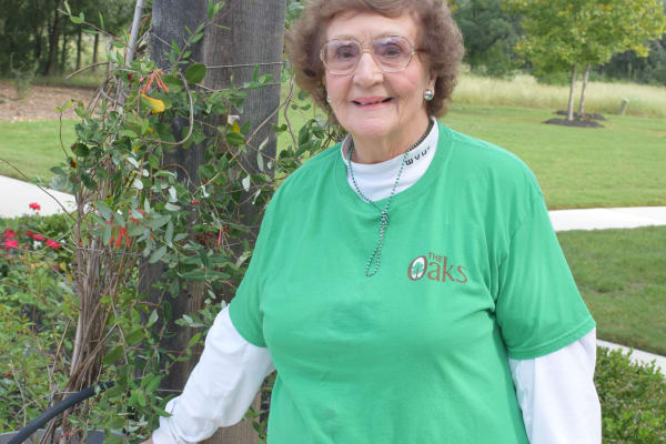 Connie Van Sickle at The Oaks Gracious Retirement Living in Georgetown, Texas