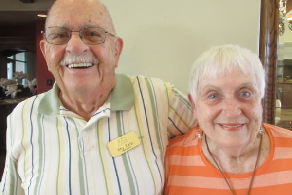 Roy Karp and Lynn Johnson at The Peaks at Santa Rita in Green Valley, Arizona