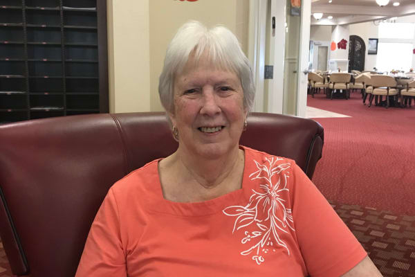 Carol Gordon at Whispering Pines Gracious Retirement Living in Raleigh, North Carolina