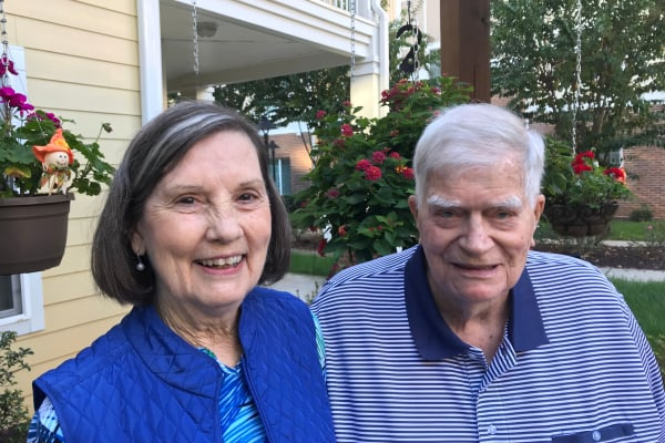 George and Barbara Matthews at Whispering Pines Gracious Retirement Living in Raleigh, North Carolina