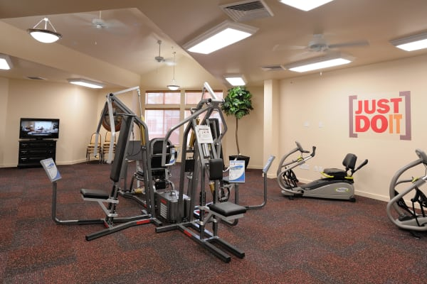 The gym for residents at Whispering Pines Gracious Retirement Living in Raleigh, North Carolina