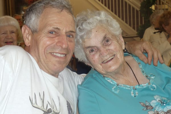 Two residents at Mulberry Gardens Memory Care in Munroe Falls, Ohio