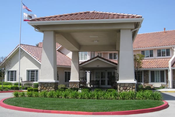 Building exterior of Palms at Bonaventure Assisted Living in Ventura, California
