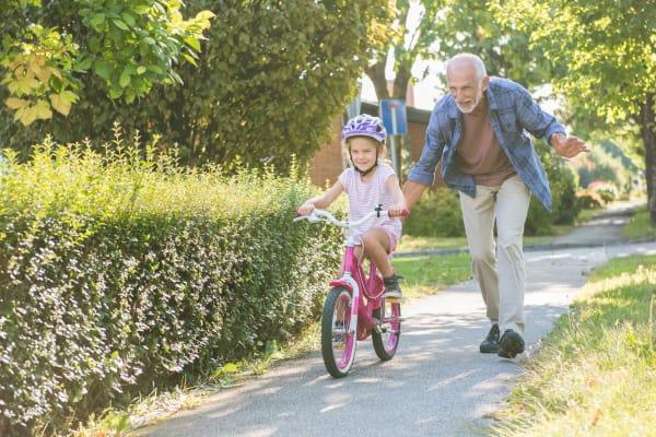 Grandpa and granddaughter at Villa Grande on Saxon in Orange City, Florida