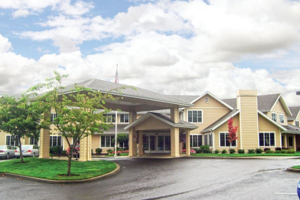Building exterior of Stoneybrook Assisted Living in Corvallis, Oregon