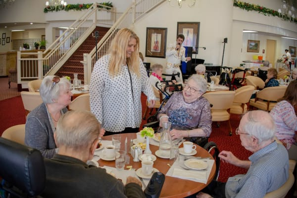Residents in the dining room at Victoria Park Personal Care Home in Regina, Saskatchewan