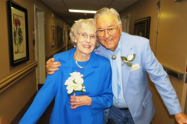 Two happy residents at Camellia Gardens Gracious Retirement Living in Maynard, Massachusetts