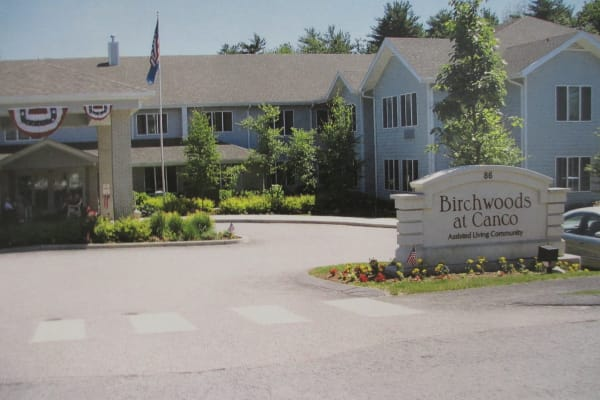 Building exterior of Birchwoods at Canco Assisted Living in Portland, Maine