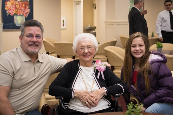 A resident from Linwood Estates Gracious Retirement Living in Lawrenceville, Georgia at our grand opening