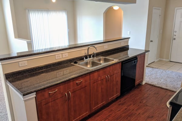 kitchen at Stone Lake Apartments in Grand Prairie, Texas
