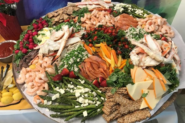 Delicious tray of food for ladies tea at All Seasons Naples in Naples, Florida