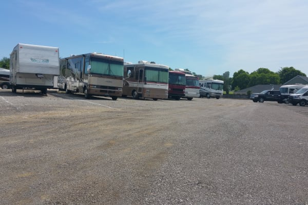 RV and Boat Parking at Lock Box Self Storage in Mt Juliet, Tennessee