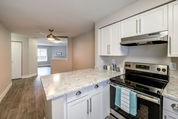 Upgraded kitchen at Village at Seeley Lake