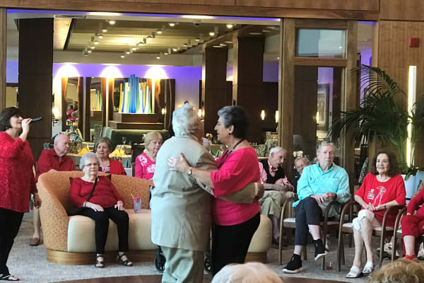Residents at All Seasons Naples in Naples, Florida dancing