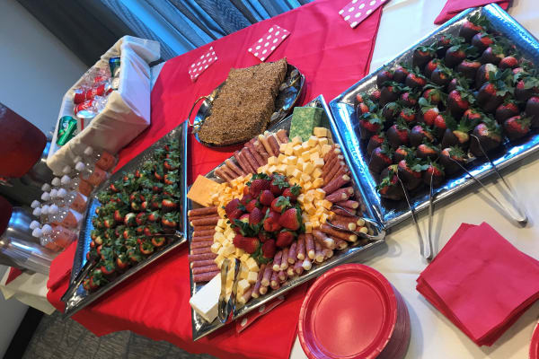 Delicious food at the Valentines day party at All Seasons Naples in Naples, Florida