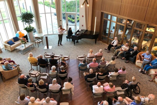 A concert is being put on for the folks at All Seasons Naples in Naples, Florida