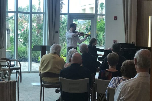 Great music is played at All Seasons Naples in Naples, Florida