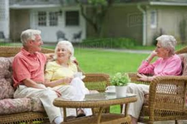 Senior living community staff members in California, Maryland.
