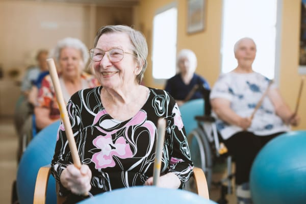 Residents participating in a group activity at Christopher House in Wenatchee, Washington