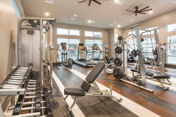 The Overlook at Interquest offers a fully equipped fitness center in Colorado Springs, Colorado