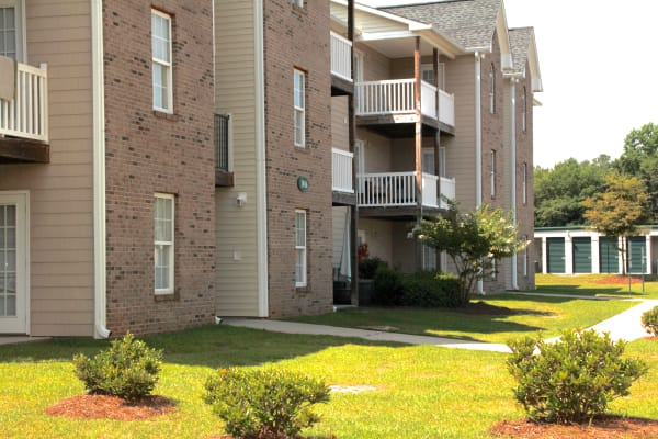 Landscaping at Bone Creek Apartments in Fayetteville, North Carolina