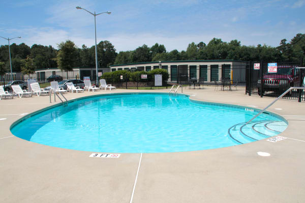 Swimming pool at Bone Creek Apartments in Fayetteville, North Carolina