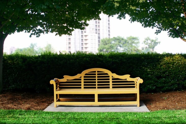 Bench at Bone Creek Apartments in Fayetteville, North Carolina
