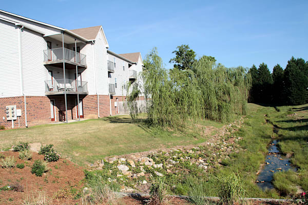 Landscaping at Brookstone Apartments in Fayetteville, North Carolina