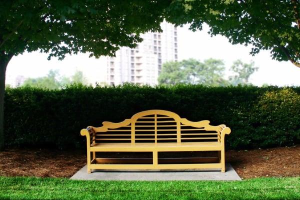 Bench near Falcon Village Apartments in Fayetteville, North Carolina