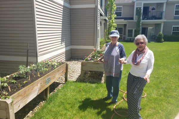 Two Members of the Residents' Gardening Club