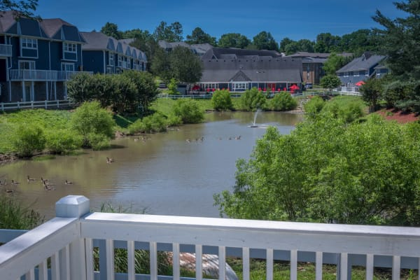 Balcony view at Mallards Landing Apartment Homes in Nashville, Tennessee