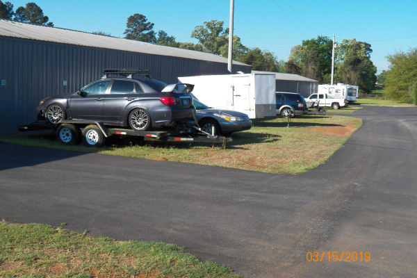 Wide driveways for your car at B & H Self Storage in Aiken, South Carolina