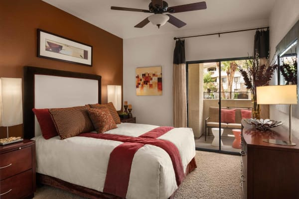 Spacious master bedroomr at San Marbeya in Tempe, Arizona