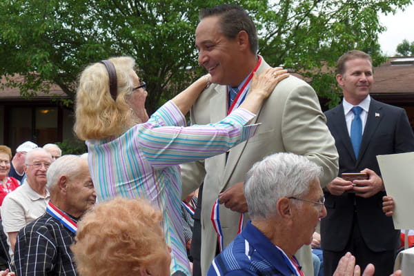 Residents celebrating with Heritage Senior Living in Blue Bell, Pennsylvania