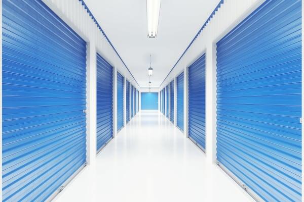 Indoor storage units at Mini Storage Depot in Nashville, Tennessee