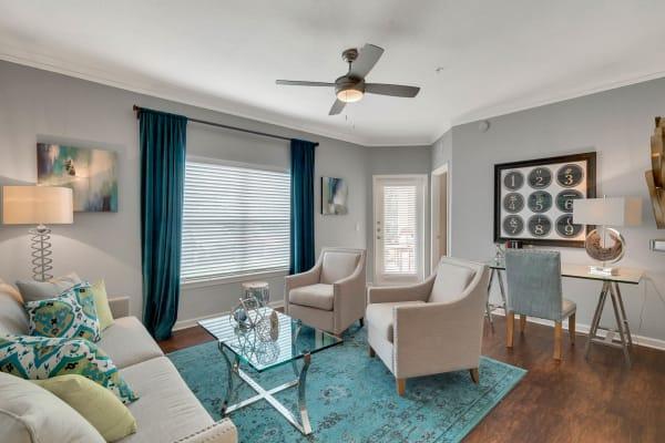 Large living room interior at Palms at World Gateway in Orlando, Florida