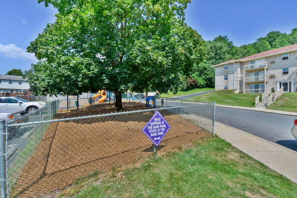 Whitestone Village Apartment Homes offers a Dog Park in Allentown, Pennsylvania
