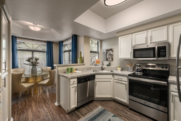Spacious kitchen with upgraded applicances at San Palmas in Chandler, Arizona