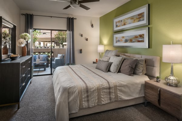 Spacious Master Bedroom in apartment home at San Pedregal in Phoenix, Arizona