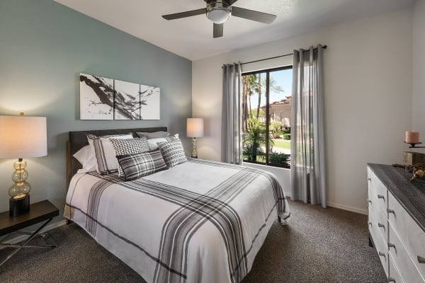 Spacious bedroom at San Pedregal in Phoenix, Arizona