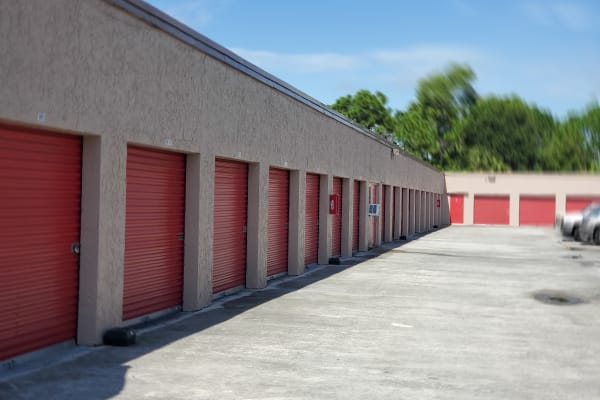 Interior view of storage units