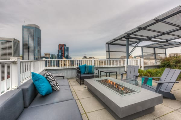 Roof top deck at M Street in Seattle, Washington