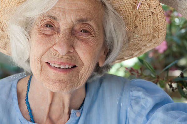 Happy resident at Wyndham Court of Plano in Plano, Texas
