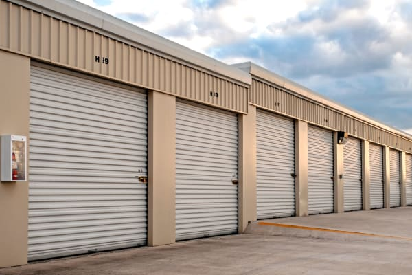 Exterior of self storage units at Lockaway Storage in Schertz, Texas