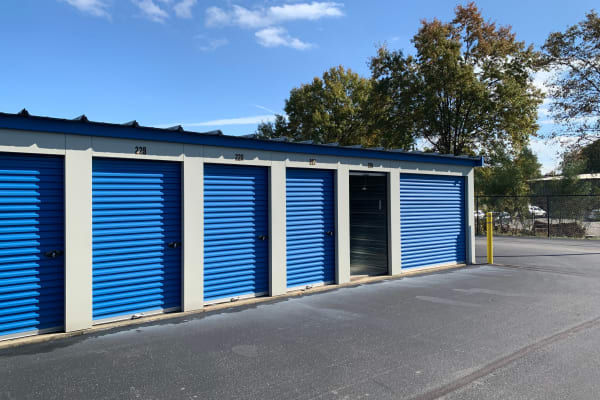 Exterior view of storage at ElkRidge Storage in Jeffersonville, Indiana