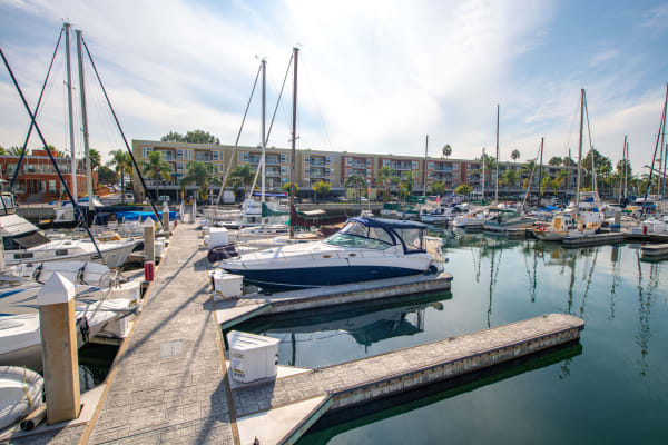 Enjoy the neighborhood at Harborside Marina Bay Apartments with access to the marina, in Marina del Rey, California