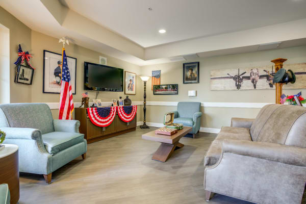 Living room at Westmont of Fresno in California