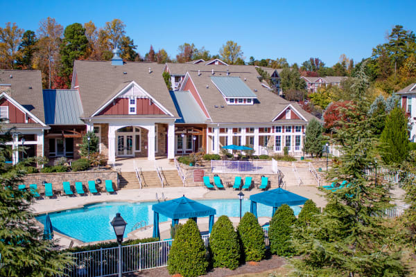 Aerial view of outdoor pool at Berkshire Fort Mill in Fort Mill SC