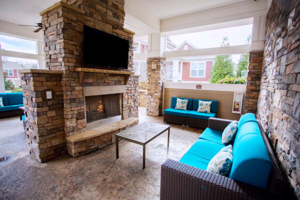 Our luxury apartment at Berkshire Fort Mill in Fort Mill SC showcase a fireplace